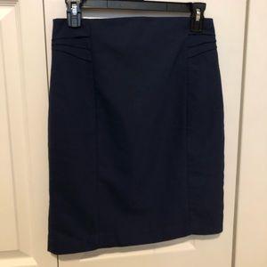 Express Navy Blue Pencil Skirt Size 4